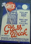 Old Lamp wick with Advertising card. Click for more information...
