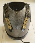 French 1828 dated troopers cuirass armour armor. Click for more information...