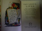 Hard cover Van Loons Lives. Click for more information...