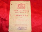 Manual Application of fire small arms training 1937. Click for more information...
