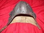 WW2 Australian flying helmet with side zips. Click for more information...