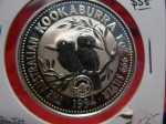 Australian silver proof Kookaburra coin 3. Click for more information...