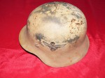 Rare WW2 German helmet snow camo DD luftwaffe Bulgarian red cross HOLD Mark D. Click for more information...