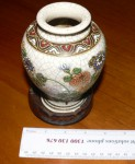 Antique Japanese Satsuma vase Closoinne inlay. Click for more information...
