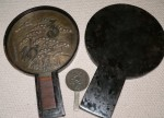 2 Japanese Antique mirrors in original case. Click for more information...