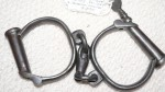 old vintage convict hand cuffs foggate marked. Click for more information...