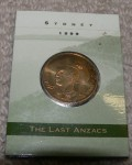 1999 Uncirculated coin in cover The Last Anzacs. Click for more information...