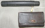 Antique Japanese smoking Tobacco pouch and pipe holder Samurai. Click for more information...