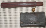 2nd Antique Japanese smoking Tobacco pouch and pipe holder Samurai. Click for more information...