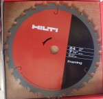 Circular saw blade Hilti 184 mm 24T Framing. Click for more information...