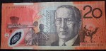 Australian 20 dollar bank note DA08 prefix. Click for more information...