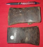 2 X OLD HATCHET AXE HEADS. Click for more information...
