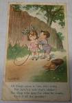 Old Australian Postcard sweethearts card. Click for more information...