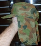 Australian Army Camo cap with neck flap. Click for more information...
