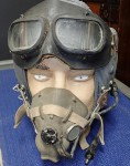 Vietnam war dated Type G Raaf Raf pilots helmet goggles and mask. Click for more information...