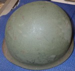 Nice ww2 USA front seam helmet with liner. Click for more information...