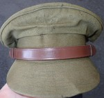 Australian Military visor cap. Click for more information...