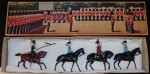 M2820 vintage Britains toy soldiers Hussar and infantry of the line NO 7s. Click for more information...