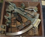 m2822 Cased Brass victorian era Sextant Maritime piece. Click for more information...